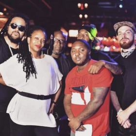 Post show photo taken at the Brooklyn Bowl with the Frank White Experience and 'Lil Cease.