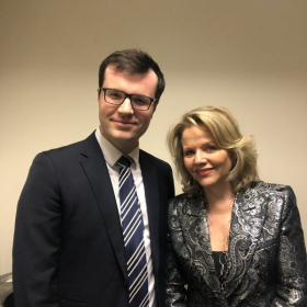 With Renée Fleming after Cameron's performance at Carnegie Hall, New York