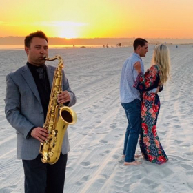 Sometimes I'm hired to play romantic songs for couples on the beach, like here in Coronado.