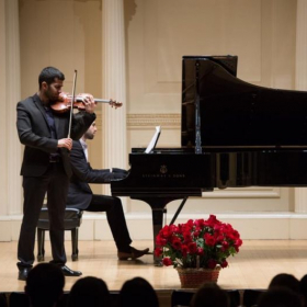 Performing at the iconic Carnegie Hall in NY.
