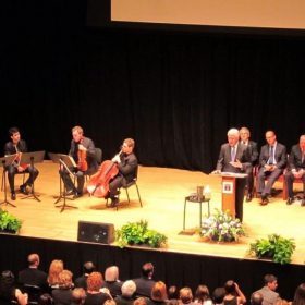 Sharing the stage with President Bill Clinton. In Philadelphia