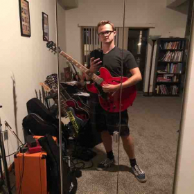 Me with my collection of guitars!
