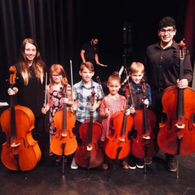 End of the year performance with my Cello Suzuki Ensemble class at Texas State.