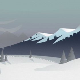 Illustrator - Snowy Mountain