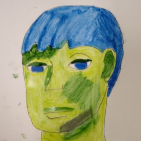 Student Project: The study of Pablo Picasso (Blue Period).