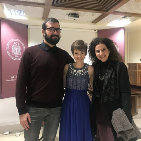 Flute recital in Thessaloniki, Greece with my pianist, Nikos, and friend, Nevart!