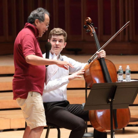 Masterclass with Yo-Yo Ma! One of the most memorable experiences of my life.