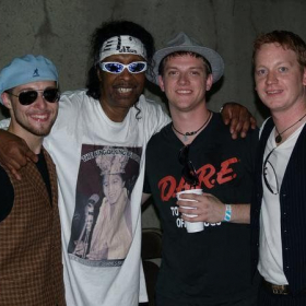 Playing a gig with Bootsy Collins!!!
