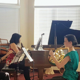 Brahms Trio for Horn, Violin, and Piano