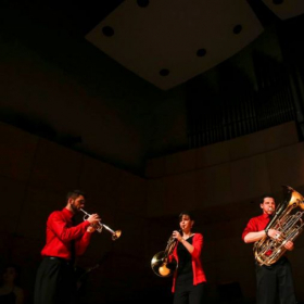 ACM Brass Quintet at the opening of OPUS competition