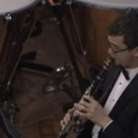 Josh playing Bb clarinet with the UNT Symphony Orchestra, February 2020.