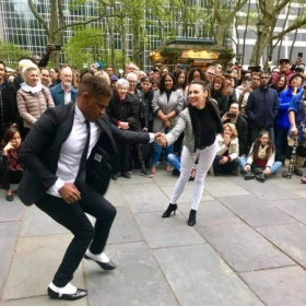 Bryant Park summer Teaching and performance with my wonderful partner Franck Muhel 2019