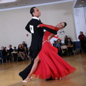 Smooth dancing competition, with my partner Rostislav Toporski