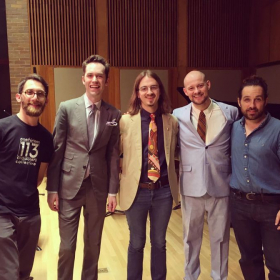 With luminary new music group loadbang after the premiere of a work I wrote for them.