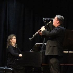 Here I am performing a solo work with piano.