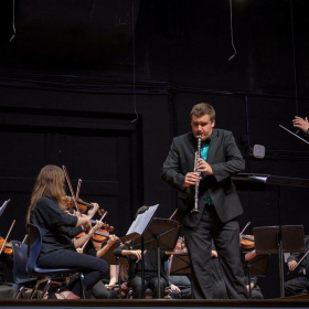 This is when I had the opportunity to perform Mozart's clarinet concerto with an orchestra.