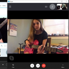 Madeline learning pentatonic scales with ease!