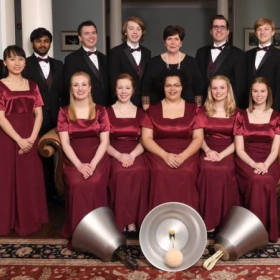 With Westminster Concert Bell Choir. I'm on the sofa, farthest left. We ring with the largest rang of handbells and hand chimes.