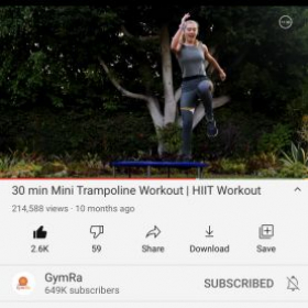 My trampoline cardio workout video!