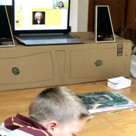 Conducting an online piano camp studying the life and times of composers including Bach.