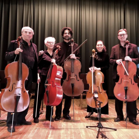 "Our ""Cello Gang"" with Amit Peled :-)"