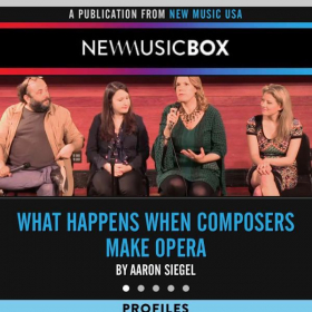 Speaking on a panel about composing opera for New Music USA.