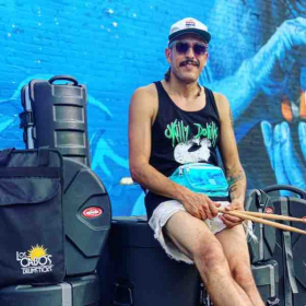 Drums brought to you by Los Cabo's Drumsticks, SKB Cases, Turkish Cymbals, and TJS Custom Drums.