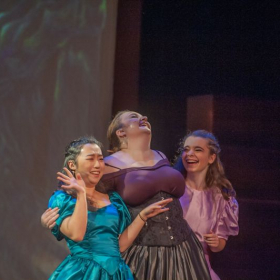 A production shot of my role as The Stepmother in Sondheim's 'Into the Woods' with Vanderbilt Off-Broadway.