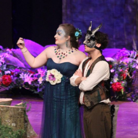 A production shot from my role of Titania in 'A Midsummer Night's Dream' with Eastern Mennonite.