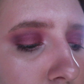 Plum Eye Look