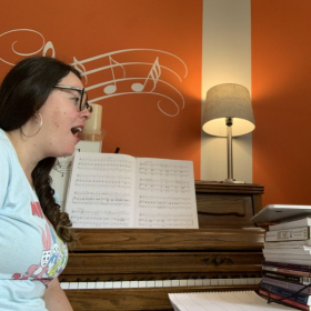 working with a voice student