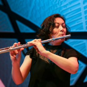 Performing at National Sawdust in Brooklyn, NY.