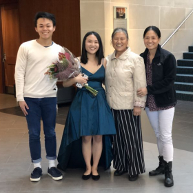 My family and me at my degree recital!