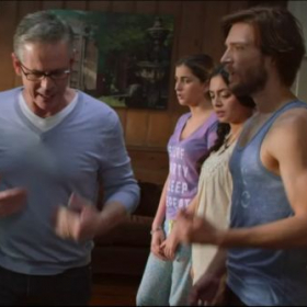 Screenshot from Thomas' lead Warner Brothers feature film role alongside C. Thomas Howell and Olivia d'abo.