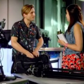 Screenshot from Thomas' guest-star role on CBS show, The Inspectors, alongside Erica-Marie Sanchez