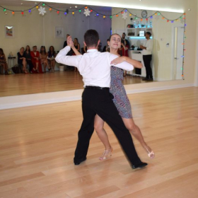 Juliana and Stefan performing