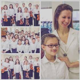 With my student violinists & violists from the PRYSM orchestras at their concert