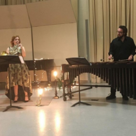 Performing with Stephen Fleming on Marimba