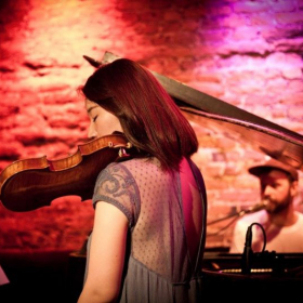 Performance with singer song writer Alex in NYC. I wrote the violin parts in his album.  Check out my youtube channel Sophia Shu Wang