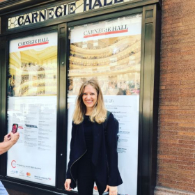 My first performance at Carnegie Hall