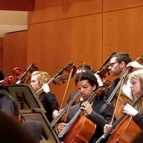 Rehearsing Beethoven, Ravel, and Schumann for a UGA Symphony Orchestra concert.
