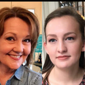 This is my client & her Granddaughter, after their makeup lessons