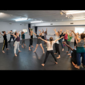 Another shot from my Master Class at Austin Dance Festival - a moment of expansion, gratitude and bliss.