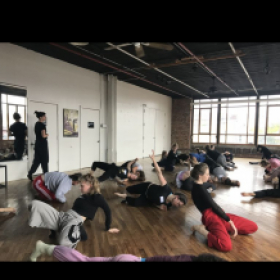 Teaching a workshop via my company - DEPTH Dance, in Brooklyn NYC.
