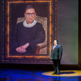 Performing in the new opera Scalia/Ginsburg