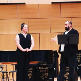 Teaching a masterclass with the talented voice students at Millersville University
