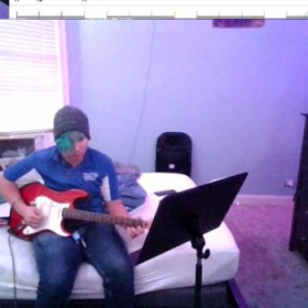 Jack about to demonstrate some sweep arpeggios in a Born of Osiris song