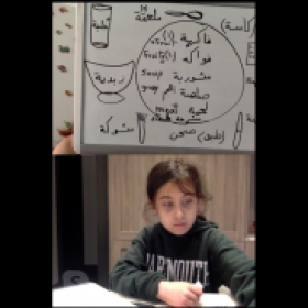 Arabic class: It's lunch time! Hungry to learn new vocab.