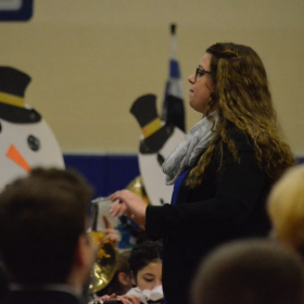 Conducting the Rochester High School Falcon Marching Band