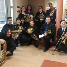 The brass choir I conducted at Rochester High School in 2018